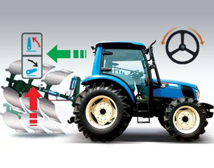 Трактор LS MT 5.73 - Электрогидравлический разворот / задний ход
