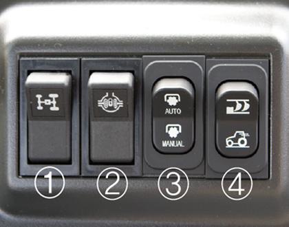 Трактор LS PLUS 90 CABIN - Простая и удобная панель переключателей.