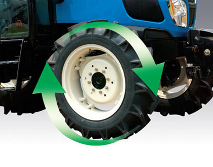 Трактор LS MT 5.73 - Функция «Быстрый поворот»
