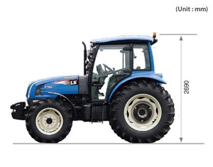 Трактор LS PLUS 90 CABIN - Оптимизация пространства