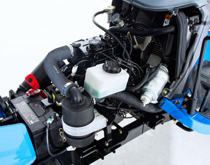 Минитрактор Yanmar LS MT1.25 HST - Трехцилиндровый дизельный двигатель Mitsubishi S3L стандарта Tier4