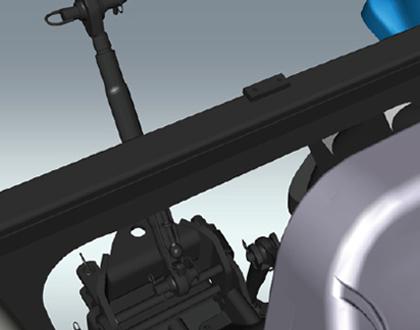 Трактор LS PLUS 90 CABIN - Улучшенный задний вид
